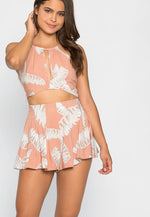 Flowy Crop Top and Shorts Set