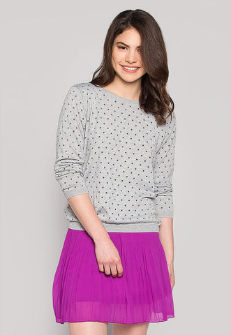 Soft Star Printed Sweater in Gray