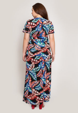 Plus Size Tropic Wrap Maxi Dress