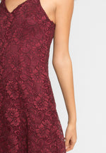Manhattan Lace Maxi Dress in Wine
