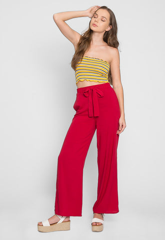 Island High Waist Pants in Red