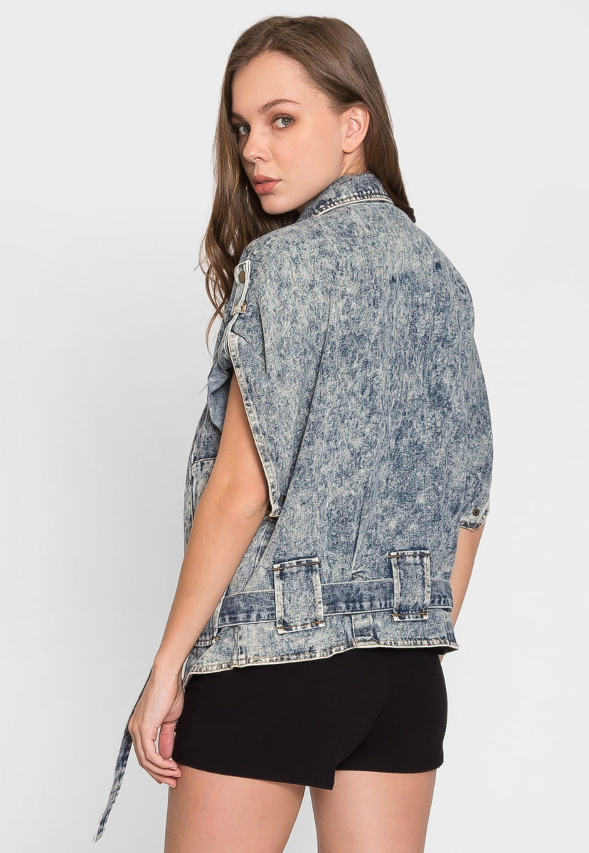 Radical Acid Wash Jean Jacket - Jackets & Coats - Wetseal