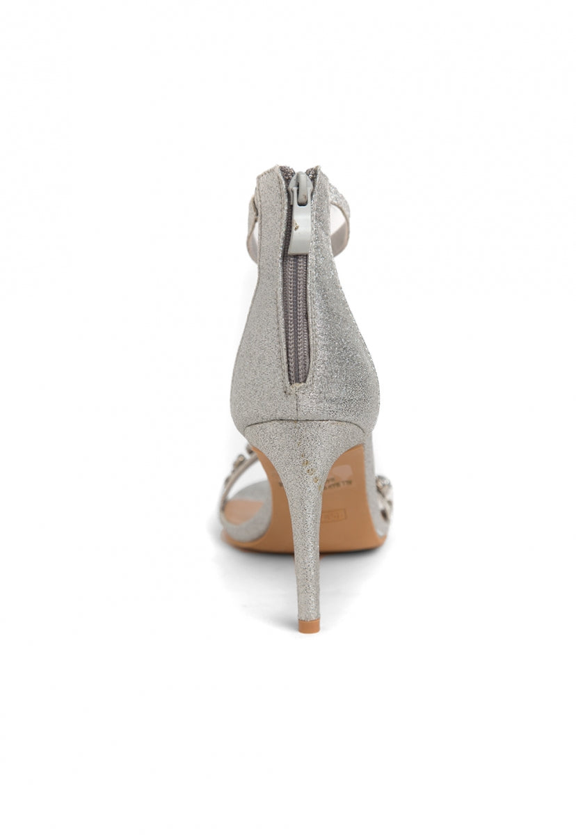 Sparkling Rhinestone Heels in Silver - Shoes - Wetseal