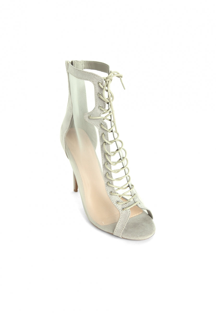 Cruise Control Netting Lace Up Booties - Shoes - Wetseal