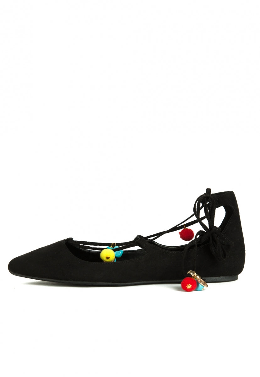 Sunny Ballerina Flats in Black - Shoes - Wetseal