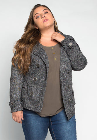 Plus Size Call Me Belted Knit Coat