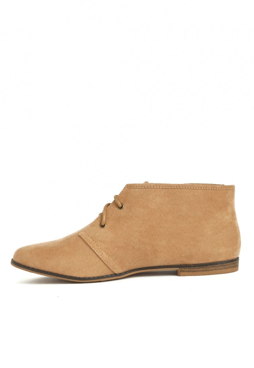Envy Faux Suede Chukka Boots in Tan - Shoes - Wetseal