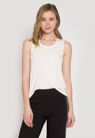 Summer Lush Tank Top in White