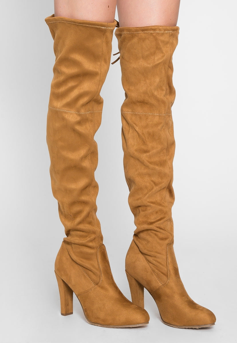 Indio Faux Suede Knee High Boots - Shoes - Wetseal