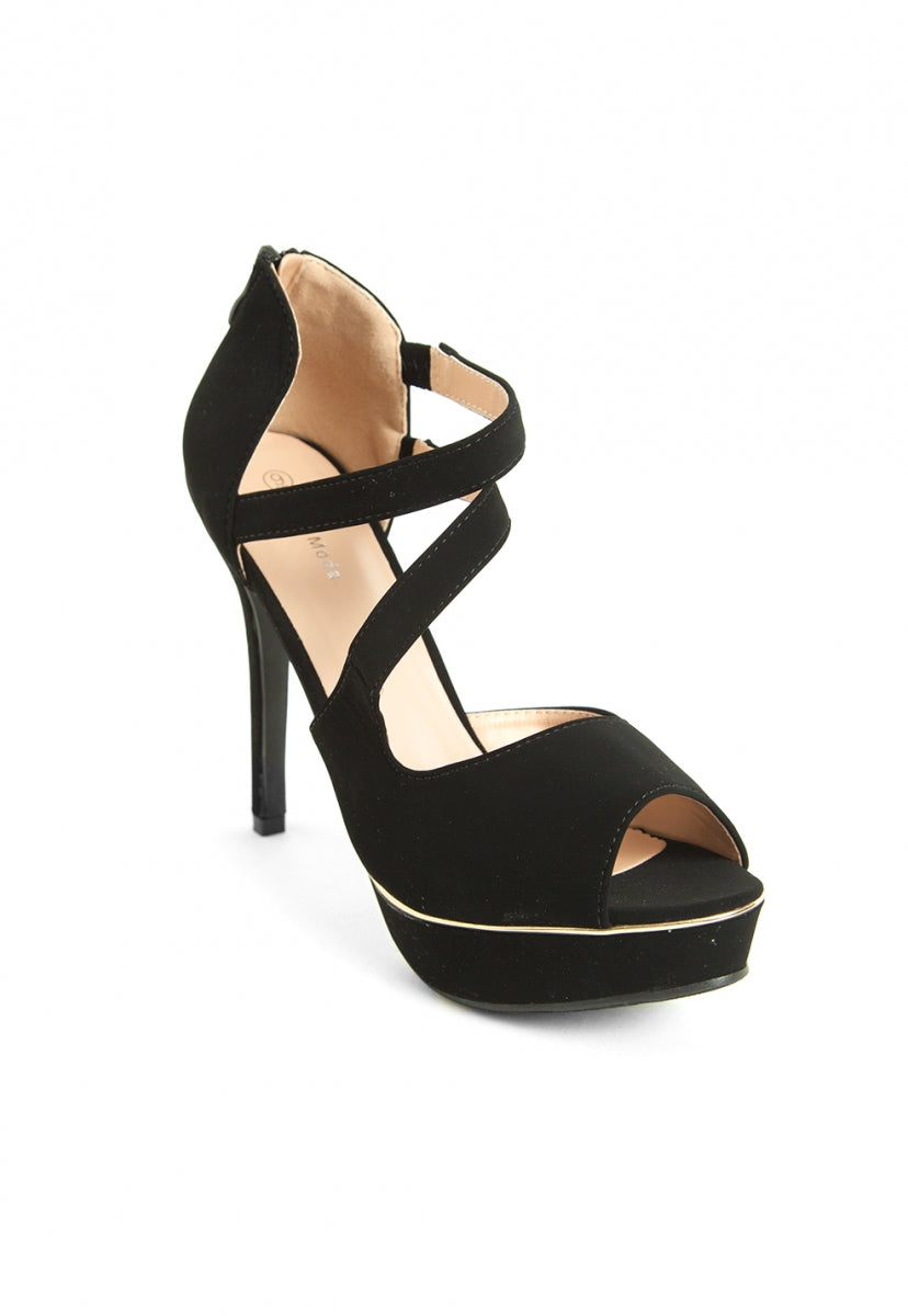 d5f1f54046a Melody Strappy Heels in Black