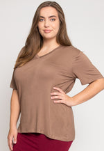 Plus Size Greatest Boxy Tee in Mocha