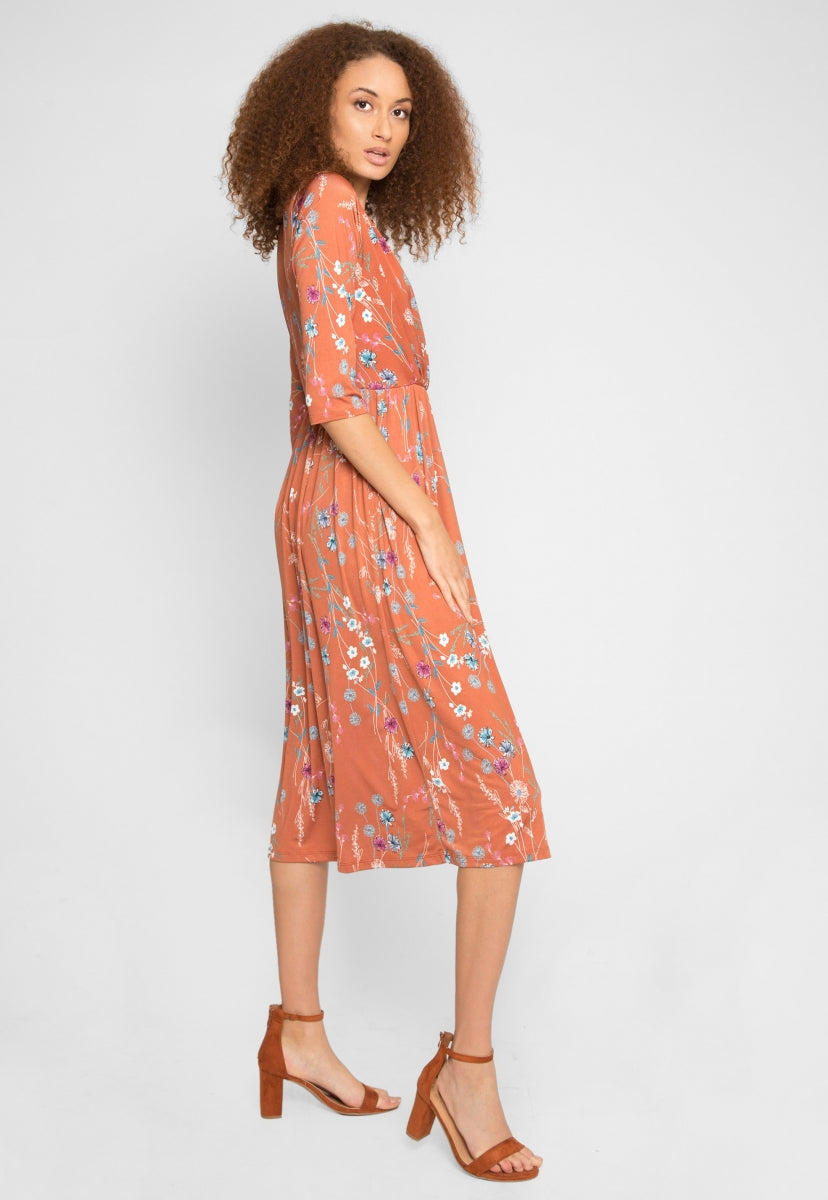 Cedar Floral Midi Dress - Dresses - Wetseal