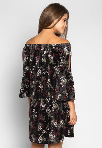 Water Garden Off Shoulder Floral Dress