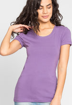 Essentials Scoop Neck Tee in Lilac