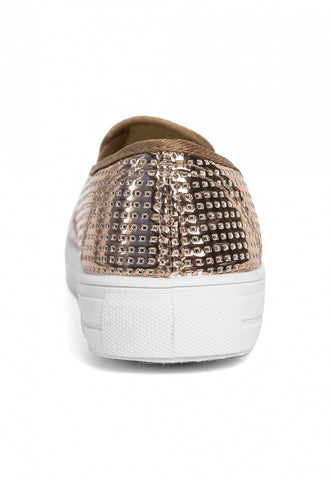 All That Glitters Metallic Slip On Sneakers