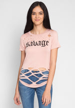 Savage Graphic Distressed Tee