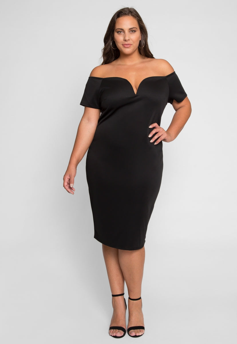 Plus Size Bronson Off Shoulder Dress