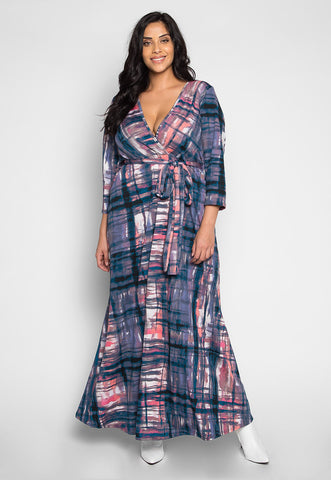 Plus Size Moonlight Belted Maxi Dress