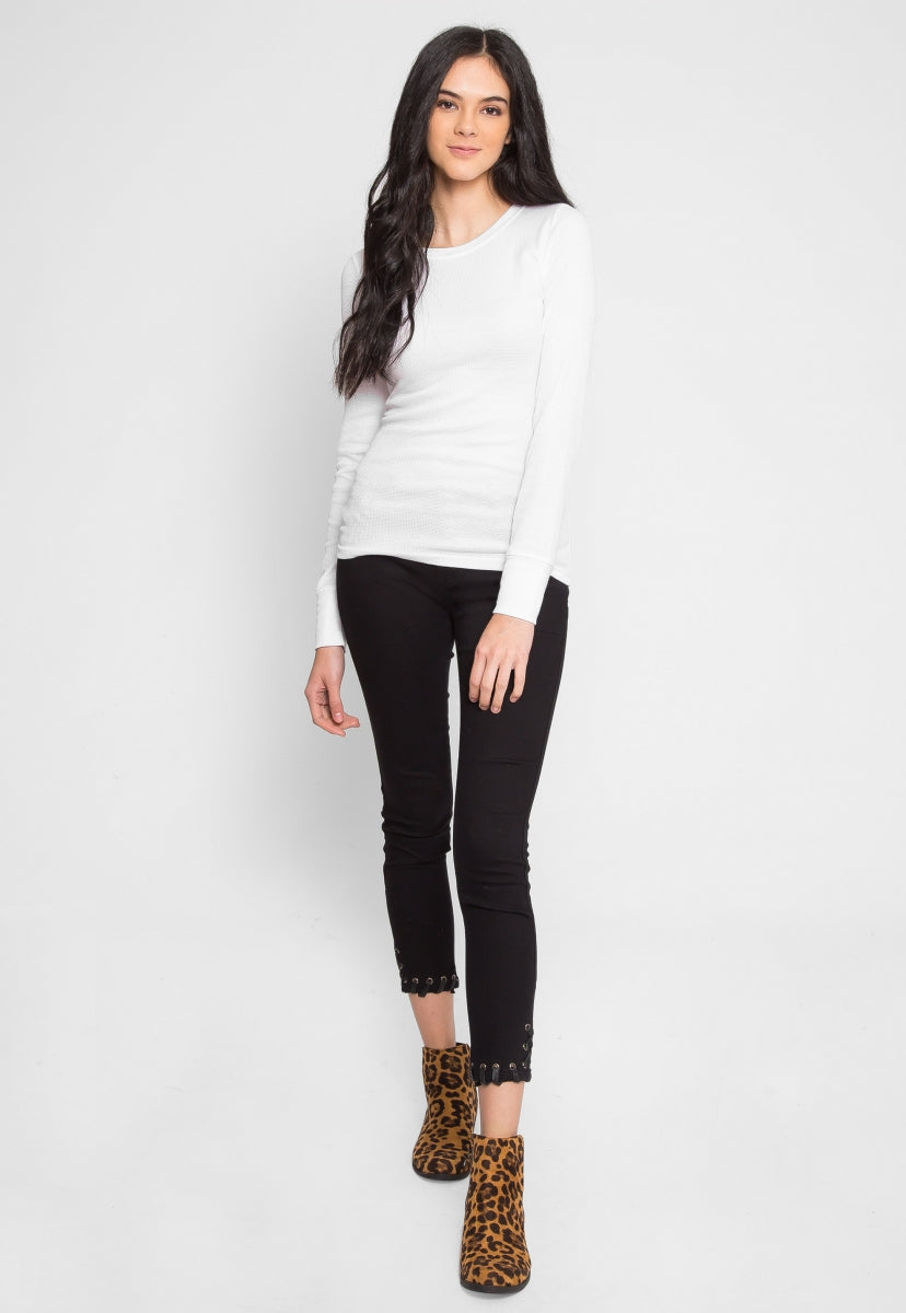 The Seal Thermal Top in White - Shirts & Blouses - Wetseal