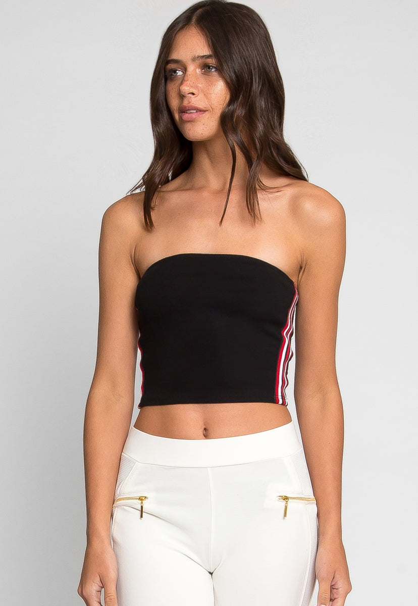 All Play Side Tape Tube Top - Crop Tops - Wetseal