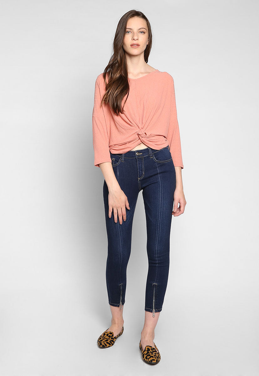 Phoenix Zipped Cuffs Denim Jeans - Jeans - Wetseal