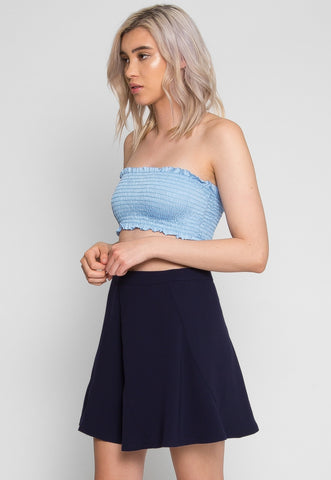 Cascade Mini Skirt in Navy