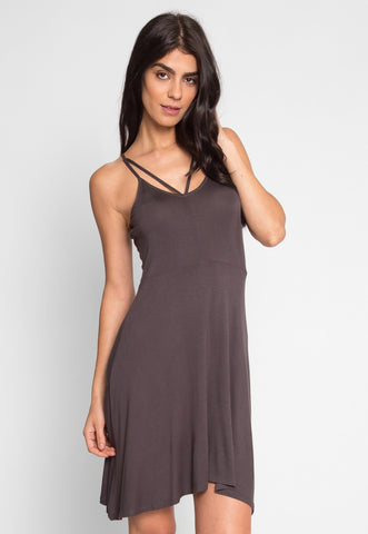 Turn Around Fit and Flare Dress in Ash Gray
