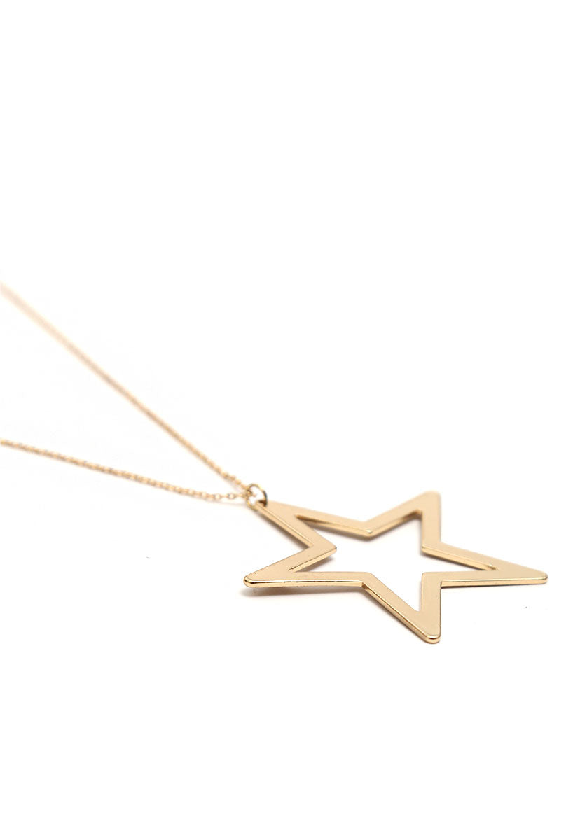 Focus Star Charm Necklace - Jewelry - Wetseal