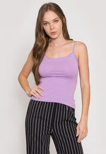 California Basic Cami Top in Lavender