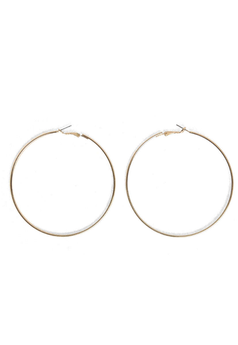 Cool Instincts Hoop Earrings - Jewelry - Wetseal