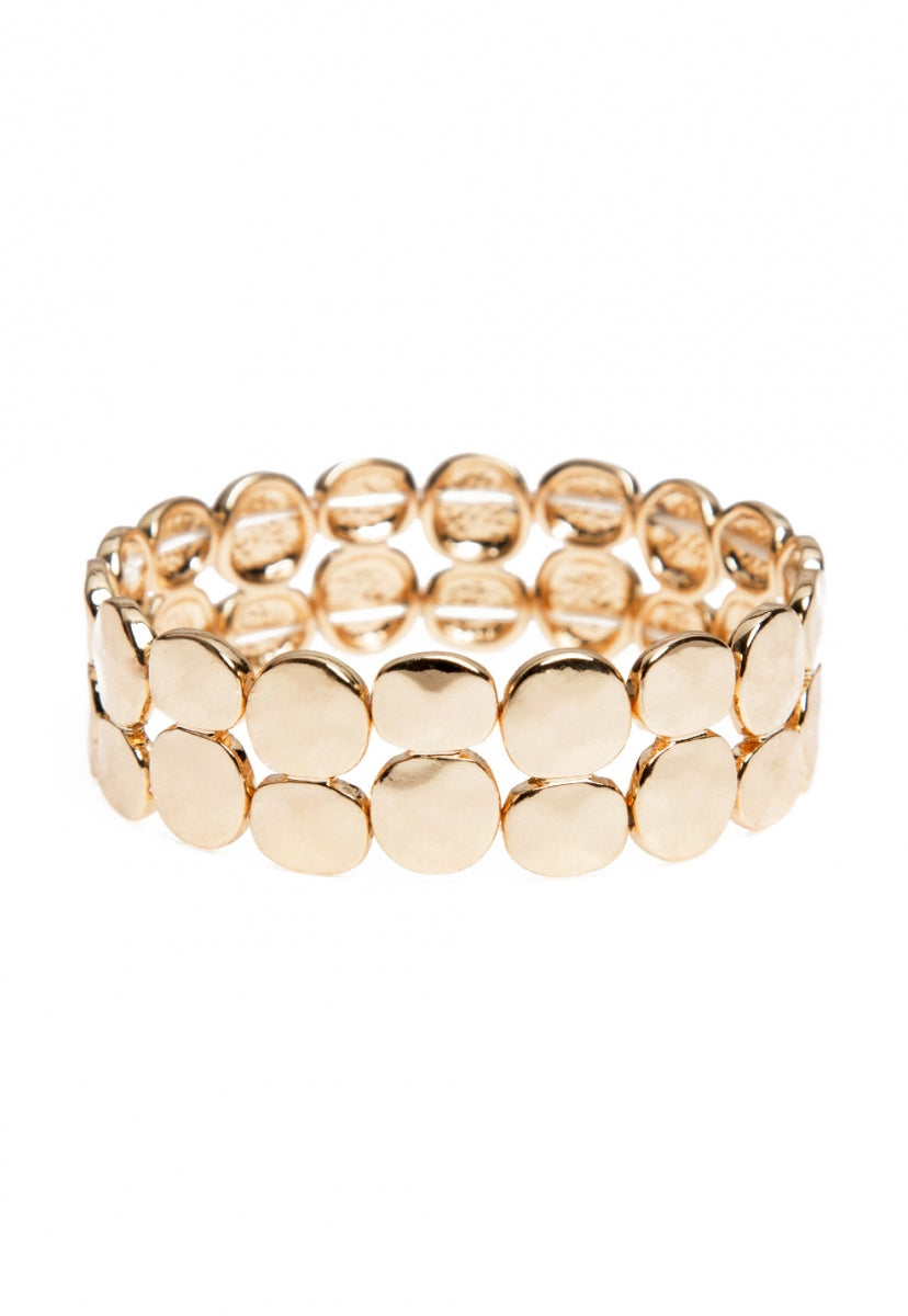 Hammered bracelet in gold - Jewelry - Wetseal