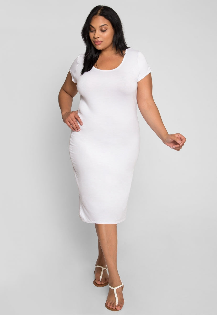 Plus Size New Beginnings T-Shirt Dress