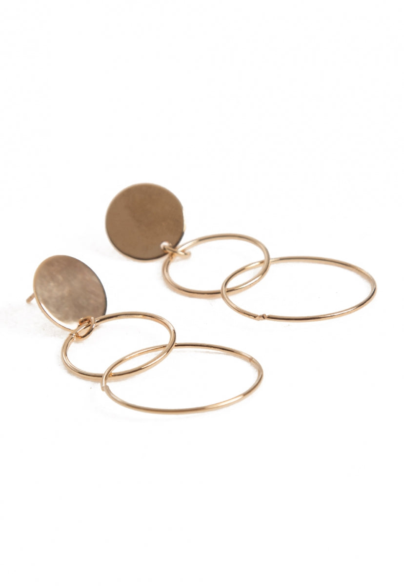 Freedom Layered Hoop Earrings - Jewelry - Wetseal