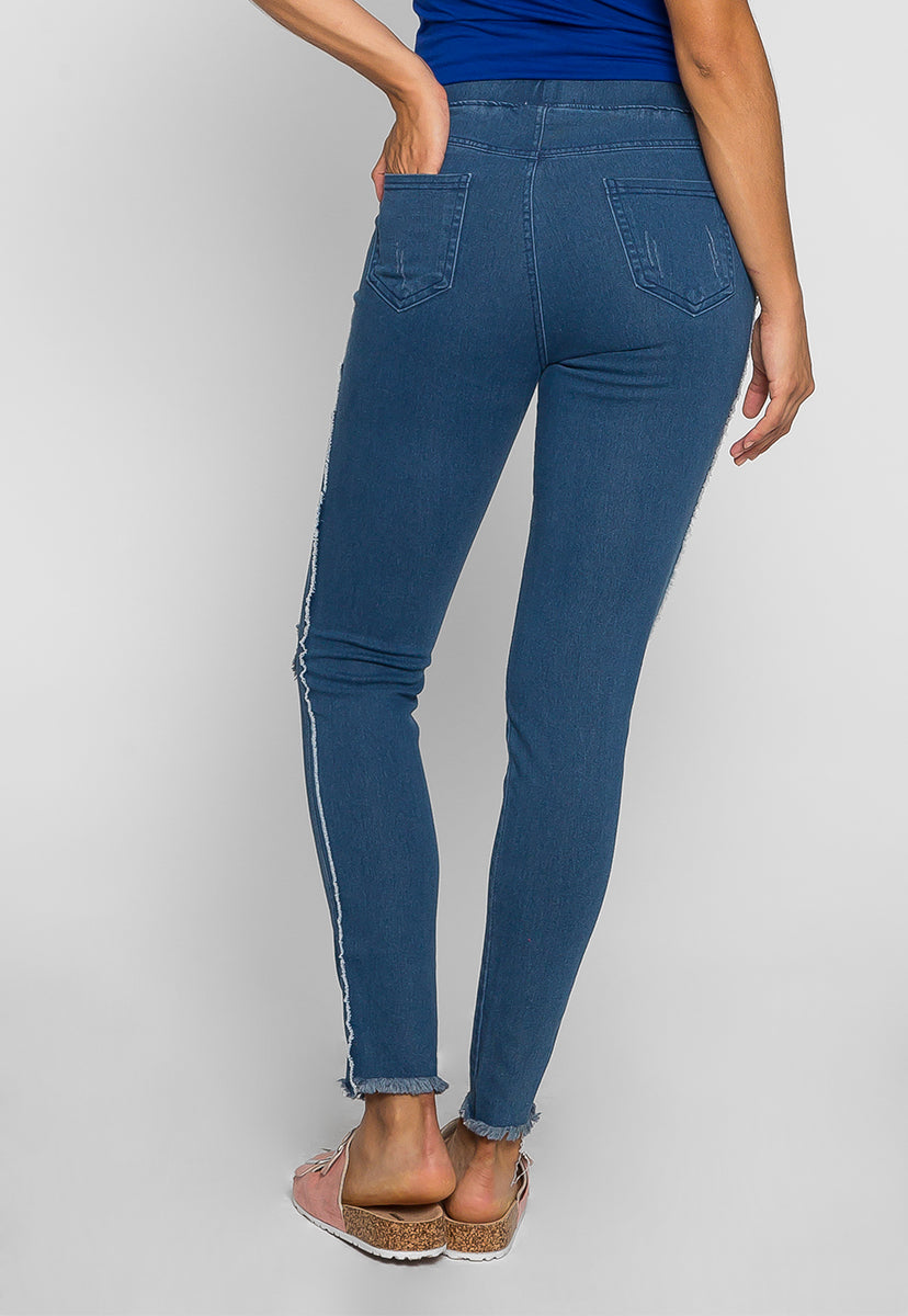 Power Distressed Jeggings - Jeans - Wetseal