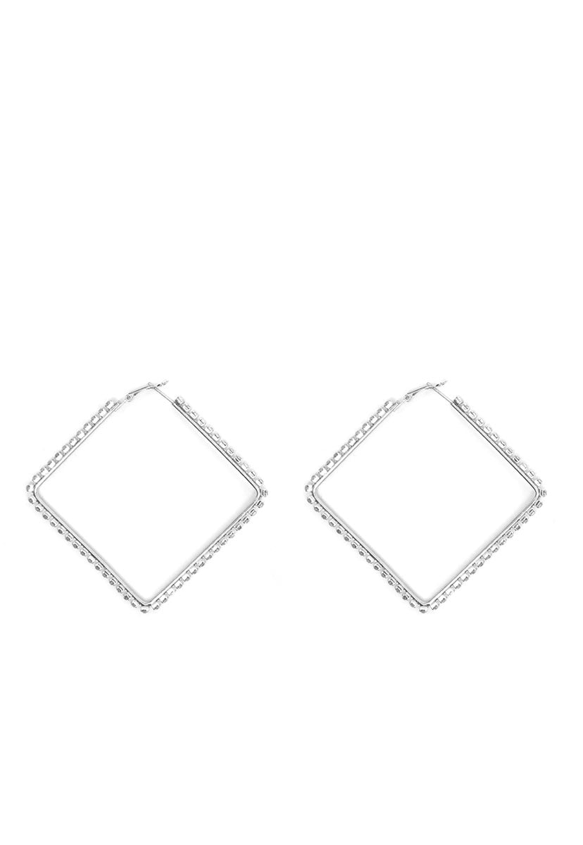 Emily Square Hoop Earrings - Jewelry - Wetseal