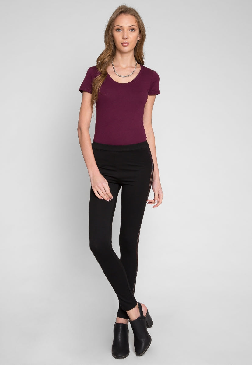 Sheer skinny pants in black - Pants - Wetseal