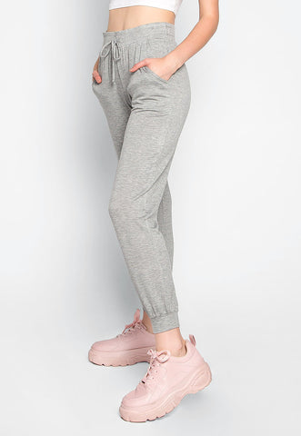 Whispers Loose Fit Joggers in Gray