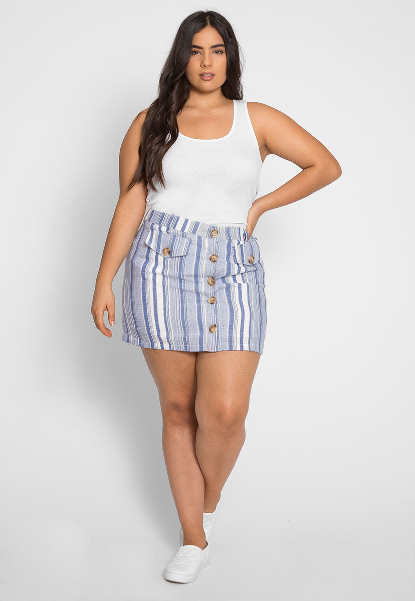 Plus Size Cali Basic Tank Top in White - Plus Tops - Wetseal
