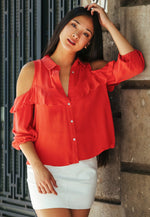 Coral Dreams Button Up Shirt