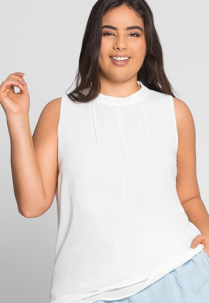 Plus Size Love Letters Blouse in White - Plus Tops - Wetseal