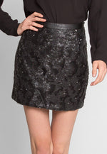 Night Shimmer Sequin Mini Skirt