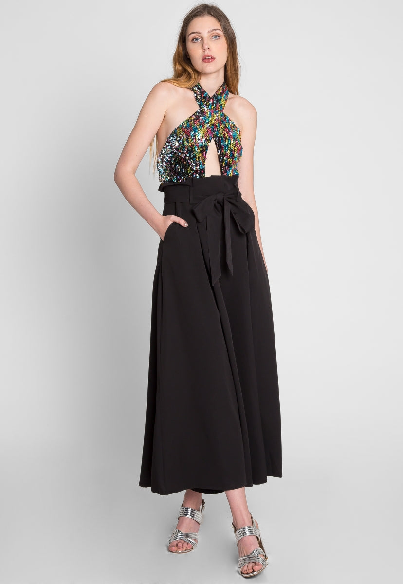 new specials finest selection united states Geode Sequin Halter Jumpsuit