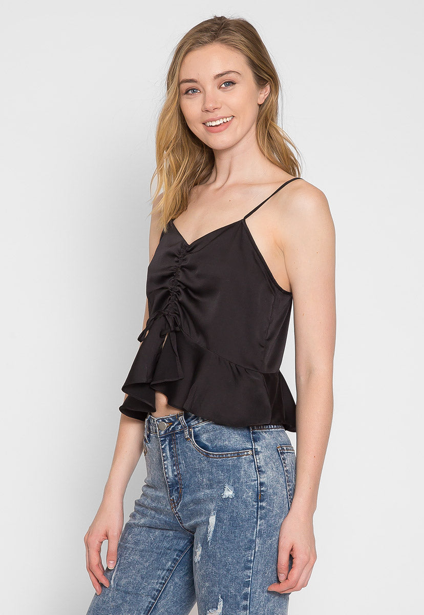 All Night Ruched Peplum Top - Shirts & Blouses - Wetseal