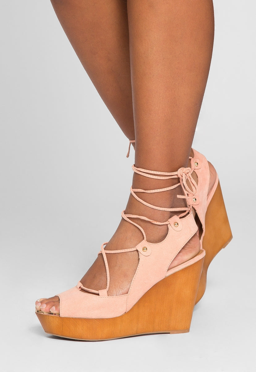 All Set Lace Up Wedges - Shoes - Wetseal