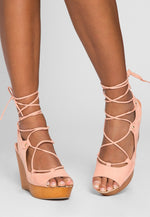 All Set Lace Up Wedges