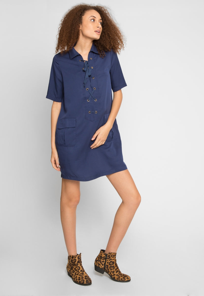 On Duty Utility Dress - Dresses - Wetseal