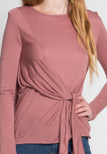 Monday Morning Jersey Knit Top in Mauve