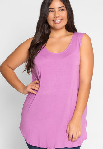 Plus Size Gilroy Sleeveless Top in Mauve