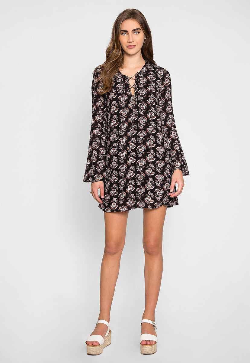 Cottonwood Printed Dress - Dresses - Wetseal