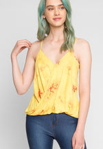 Borealis Tie Dye Surplice Top in Yellow